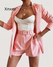 Work Ol Suit Female Blazer And Pants Suit Set Female Coat V Neck Sexy Chic Suit Women Office Set 2 Pieces Outfits Female adogirl work ol suit female sleeveless top and pant suit set female coat v neck sexy chic suit women office set 2 pieces outfits