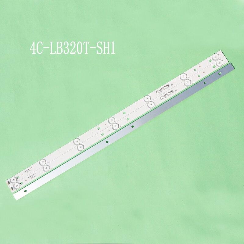 3pieces/lot For 32L20 Led Backlight PB08D606173BL052-002H 4C-LB320T-SH1 LED32C371 LED32B500 4C-LB320T-HQ2 32RTB32M06A0 7lamps