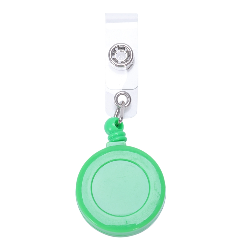 1 Pcs Badge Holder Retractable Reel YOYO Clip Snap Button ID Card Key Green