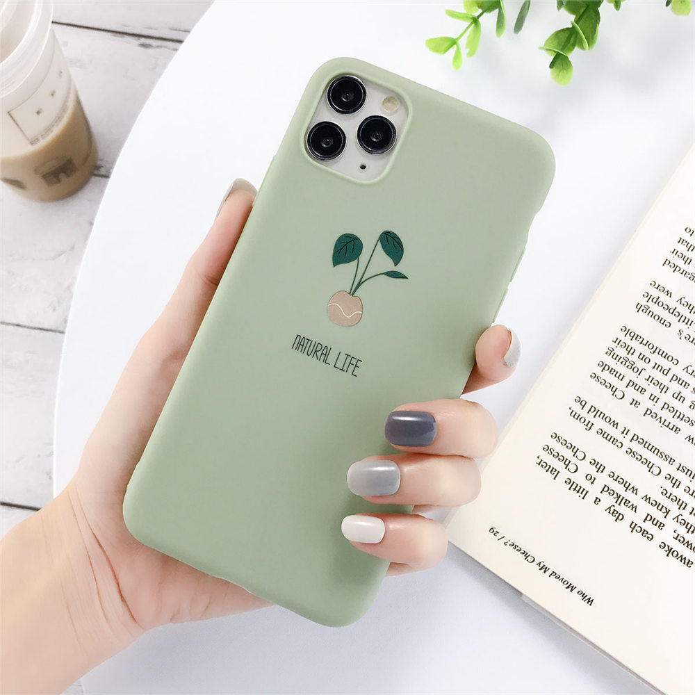 H449a2738ee994b16be08050c2c8200e2M - Lovebay Silicone Phone Cases For iPhone 7 XR 11 Pro Avocado Waves Cactus For iPhone 5SE 6 6s 8 Plus X XS Max Soft TPU Back Cover