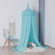Children chiffon ball bedspread, baby solid color princess dome mosquito net, boy/girl, white/pink/green/grey
