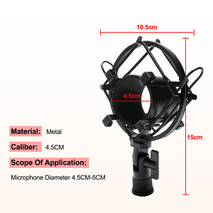 Image 5 - Scissor Arm Stehen Für Bm800 Mikrofon Stehen Mit EINE Spinne Cantilever Halterung Universal Shock Mount Mic Halter