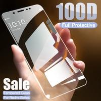 Protector de cristal templado 100D para Xiaomi Redmi Note 5, 5A, 6 Pro, Redmi 5 Plus, 6, 6A, 7A, S2 Go, película protectora de pantalla