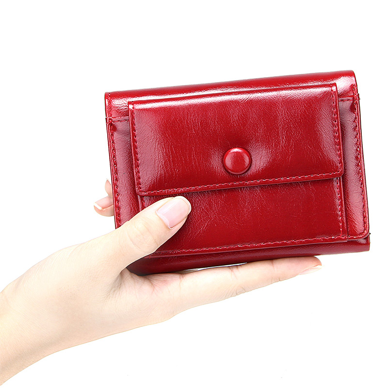 Short Women's Wallet With Zipper Coin Pocket Solid 3 Fold Short Clutch Purses For Women Pu Leather Money Bags Female Cards Case