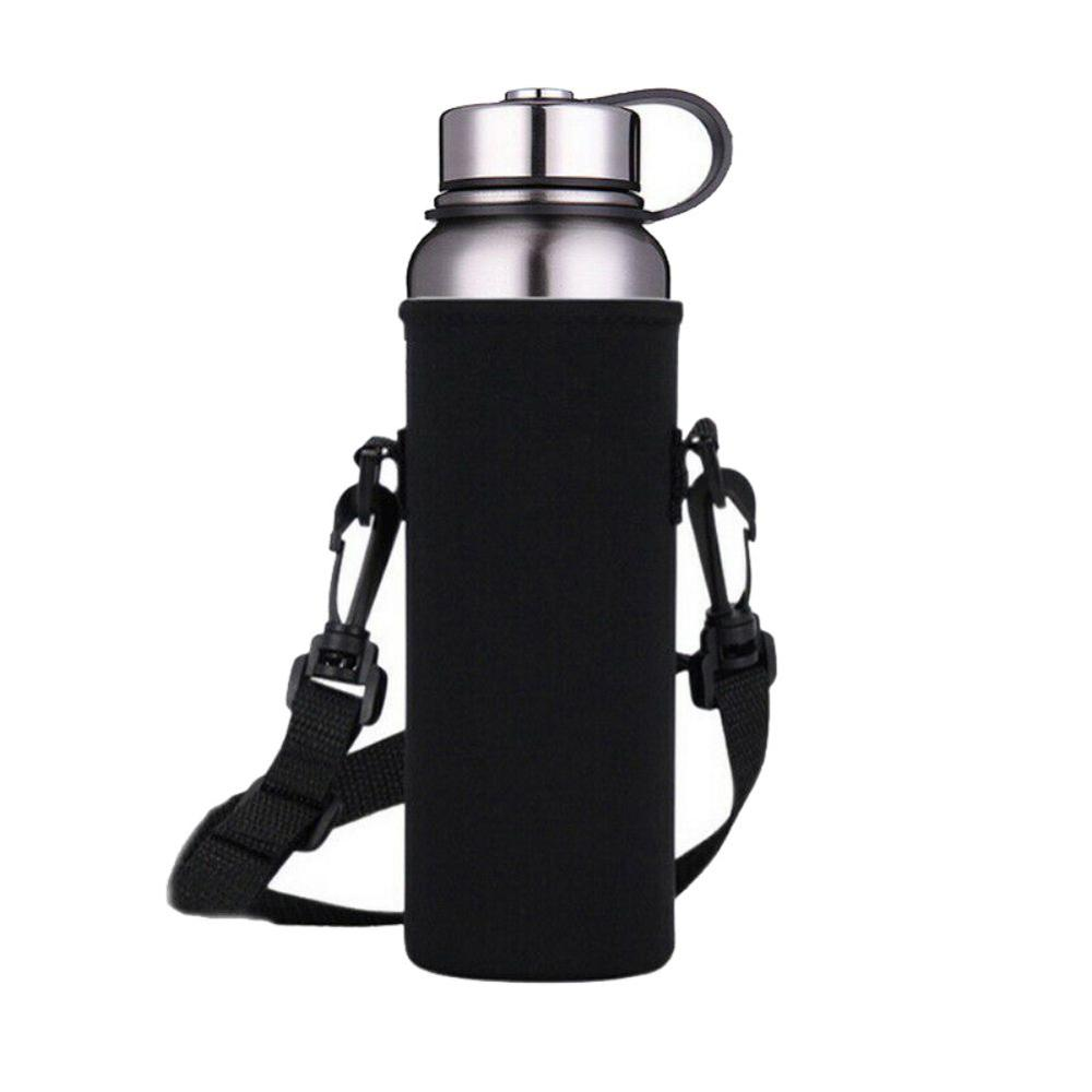 Outdoor Portable Water Thermos Cup Holder Bottle Carrier Insulated Cover Bag Holder Strap Pouch Outdoor Insulation Sealing Bag