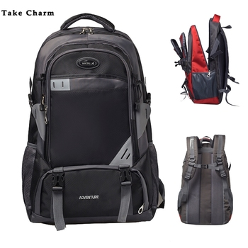 High Quality Oxford Cloth Men Travel Backpack Waterproof Large Capacity Mountaineering Bag Lady Outdoor Camping Sports 2019