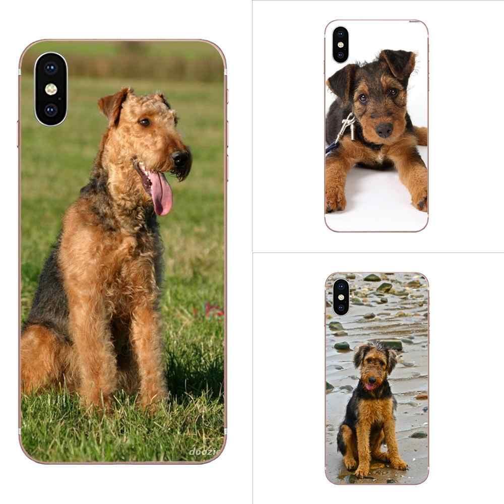 Pour Xiao mi rouge mi 4 7A 9T K20 CC9 CC9e Note 7 9 Y3 SE Pro Prime aller jouer TPU téléphone personnalisé belle Airedale Terrier chien
