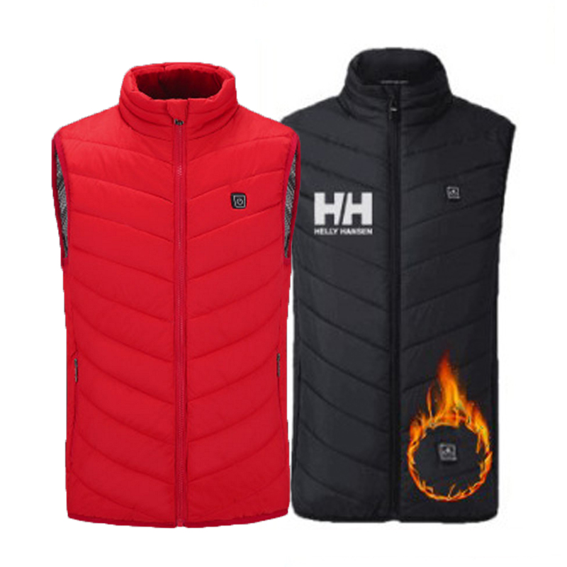 Euro Size S-4XL Men Autumn Winter Flexible Electric Thermal Cloth Waistcoat Fish Hiking Outdoor USB Infrared Heating Vest Jacket