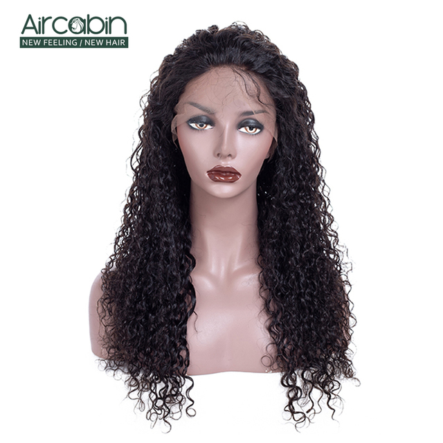"AirCabin 13x4 Brazilian Kinky Curly Lace Front Wigs 12""-24"" Pre-Plucked Remy Hair Wig with Baby Hair Lace Front Human Hair Wigs"