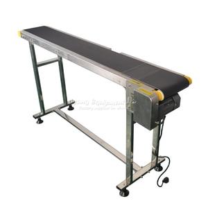 Image 4 - LY 120W Double Buffles Inkjet Printer Stainless Steel Bottle Conveyor Belt Machine for Food Drinking Medicine Box Bag Stiker
