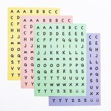 1 шт diy цветные английские буквы Стикеры Скрапбукинг альбом