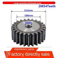 2M54Teeth 2mod getriebe ritzel blank loch spur getriebe präzision maschinen industrie 45 stahl getriebe ritzel frequenz harden-in Zahnräder aus Heimwerkerbedarf bei