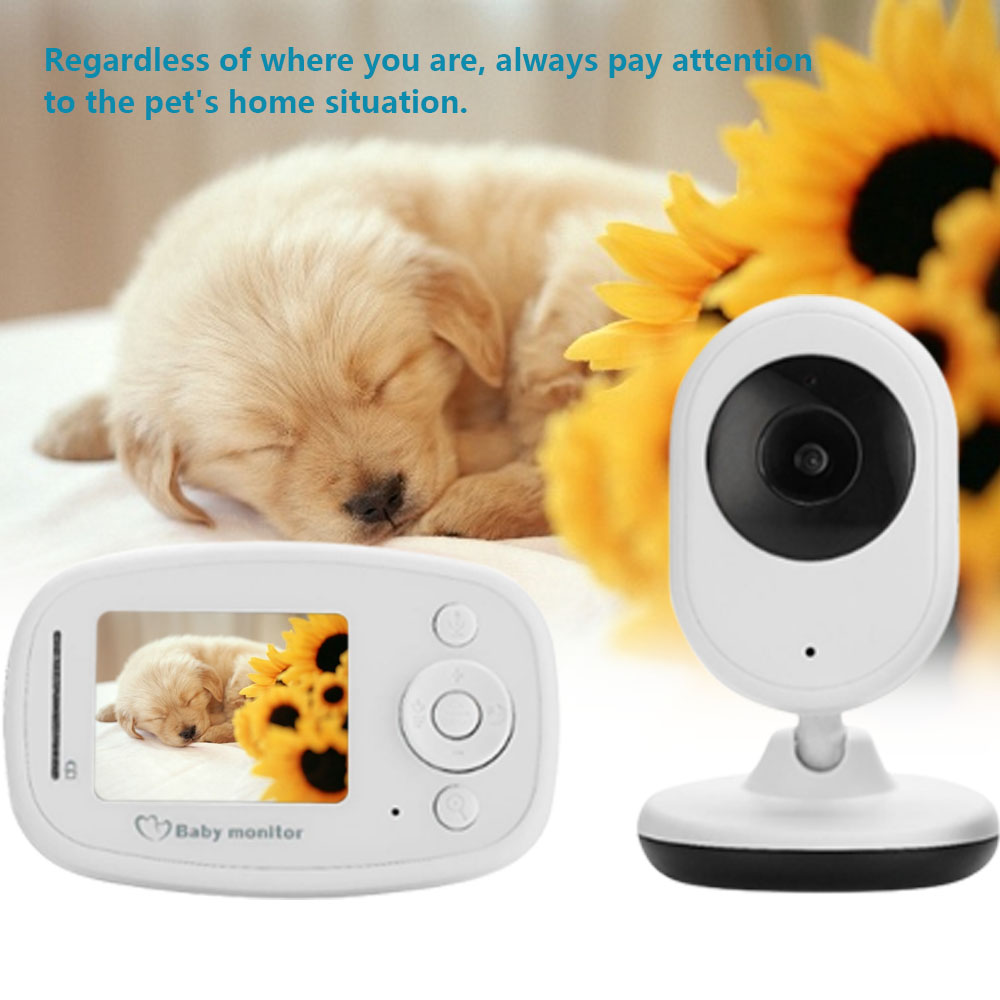 CYSINCOS Wireless Video Baby Monitor Camera LCD Screen Infrared Baby Nanny Security Camera Night Vision Temperature Monitoring