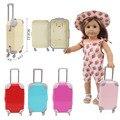 Пластиковый раздвижной чемодан для 18-дюймовых американских кукол и 43 см новорожденных, русская Рождественская игрушка для девочек