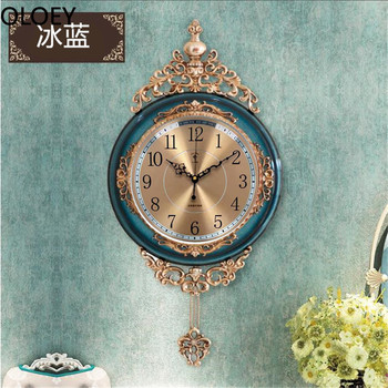 Luxury Gold Wall Clock Large Living Room Silent Creative Swing Wall Clock Bedroom Quartz Clocks Wall Home Decor Reloj De Pared 14 inch creative transparent suspension wall clocks nordic simple quartz clock home living room wall decor