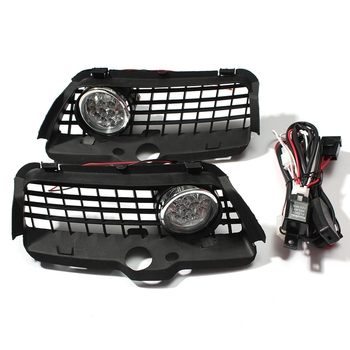 For Vw Mk3 Golf Jetta 1992-1998 Front Bumper Grille 6000K White Led Drl Driving Fog Light Car Accessories image