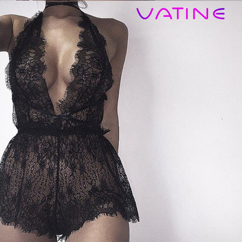VATINE Women Sexy Lingerie Beautiful And Sexy Transparent  Deep-V Sexy Underwear Dress  Erotic Lingerie Sexy Costumes