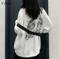 Harajuku Oversized Dragon Printing Loose Women Long Sleeve Sweatshirt