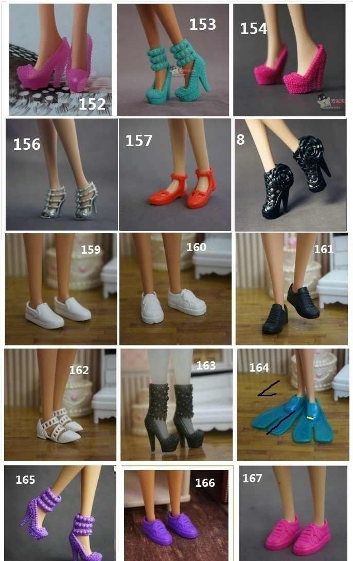 10 paren/partij Originele schoenen voor Barbie Doll 1/6 bjd accessoires lalki Prinses zapatos pullip bonecas sandaal hakken schoenen baai speelgoed