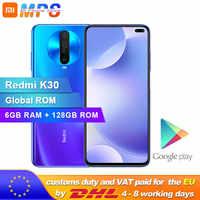Global ROM Original Xiaomi Redmi K30 6GB 128GB 4G Smartphone Snapdragon 730G Octa Core 64MP caméra 120HZ affichage fluide 4500mAh