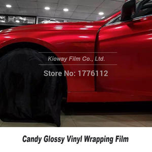 Full Body Wrap Gloss Vinyl Wrapping candy vinyl wrap red Car Red Glossy1.52M*18M/roll gloss lipstick red Hot - selling Color