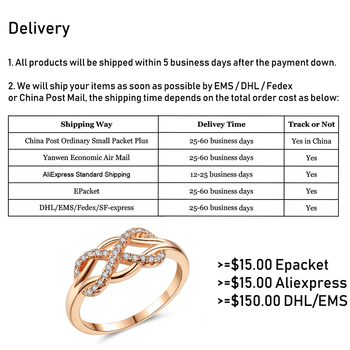 Beiver New Cubic Zirconia Crystal Infinite Rings For Women Fashion Design Statement Rose Gold Color Ring Wedding Jewelry 2