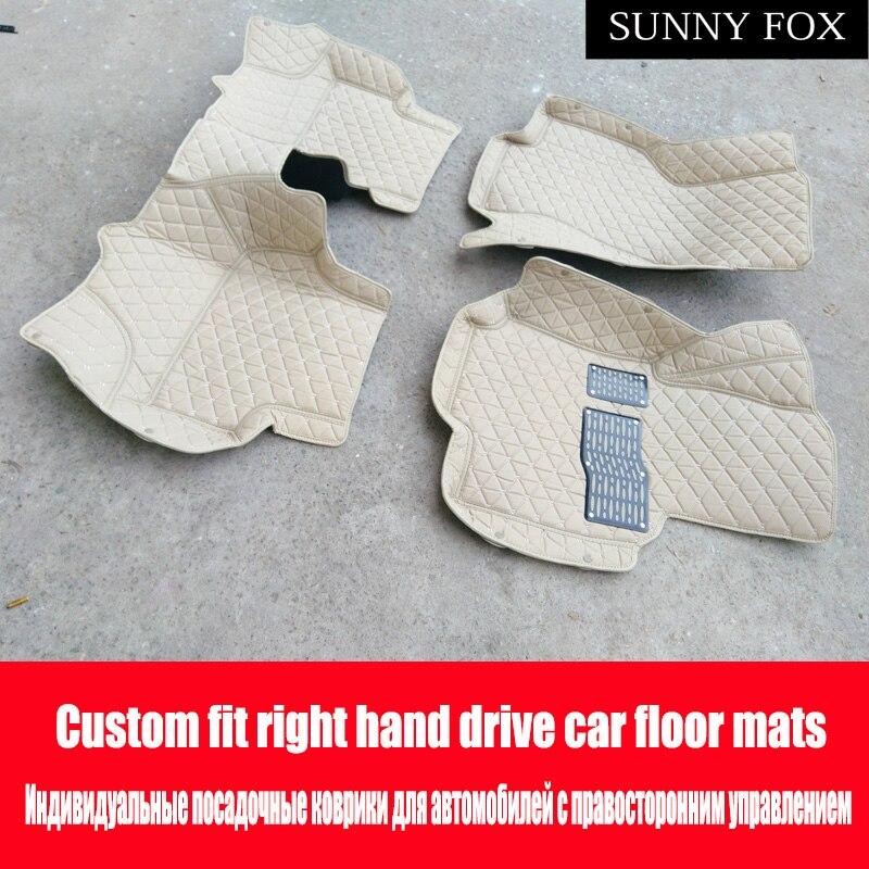 Conduite à droite/RHD pour Hyundai Verna Accent Solaris 5D tous temps lourd dutycar-style tapis tapis revêtements de sol (2006-)