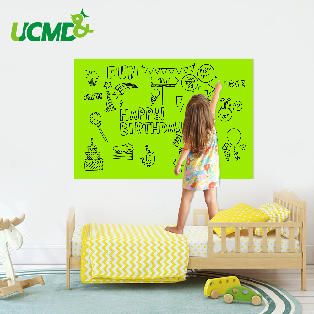 Erasable WhiteBoard Kids Toy Gift Drawing Writing Graffiti Message Board Hold Magnets Removable Home Room Wall Decor Sticker