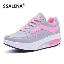 Женские кроссовки для фитнеса, увеличивающие рост; женские дышащие кроссовки со шнуровкой;# B2127