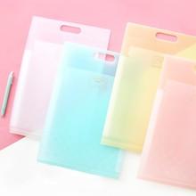 Storage-Bag Folder Pocket Plastic File School-Supplies Candy JIANWU KOKUYO Cute Kawaii