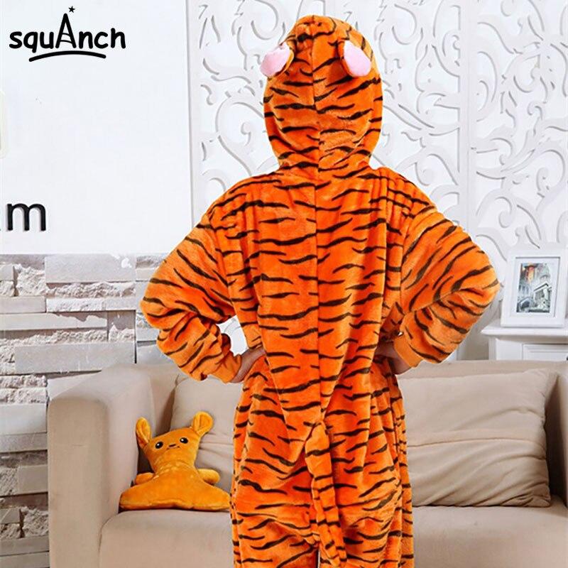 Kid's Kigurumis Unicorn Onesie Animal Overalls Flannel Soft Whole Pajama One Piece Boy Girl Child Outfit Panda Winter Sleep Suit
