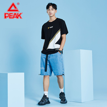 PEAK high quality fashion T Shirt large size Men T-Shirt Short Sleeve  Casual Shirts Short-sleeve Loose Casual Clothes цена 2017