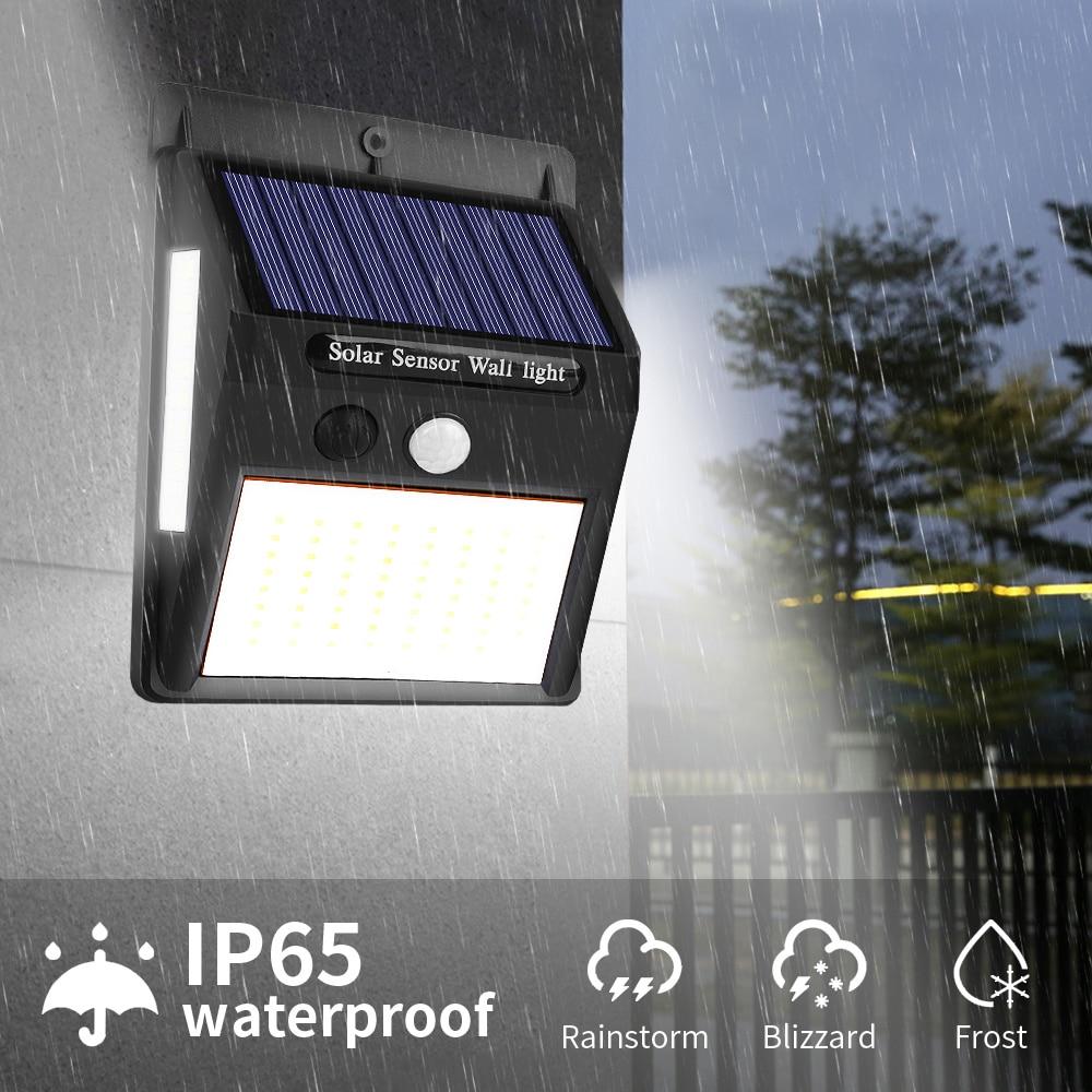 100 LED Solar Light Outdoor Solar Lamp PIR Motion Sensor Wall Light Waterproof Solar Powered Sunlight For Garden Decoration