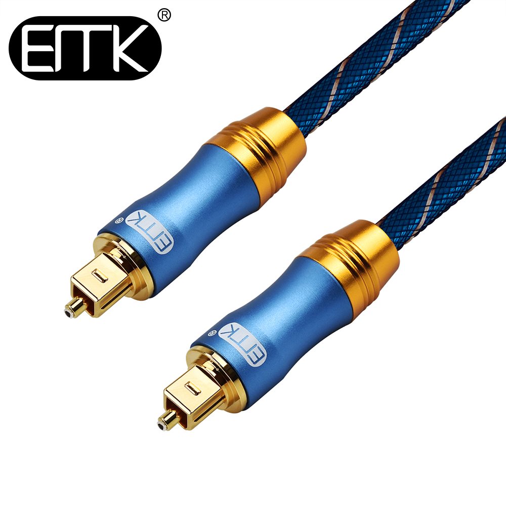 EMK 5.1 Digital Optical <font><b>Audio</b></font> Cable Toslink SPDIF Cable Optical Fiber Cable 1m 2m 5m 10m braided <font><b>jacket</b></font> Soundbar PS4 DVD Speaker image