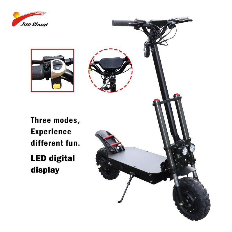 Scooter électrique hors route 60V 3200W 80 KM/h double Moto Scooter électrique 100KM Adulto 60V 35A Skateboard Patinete Eletrico