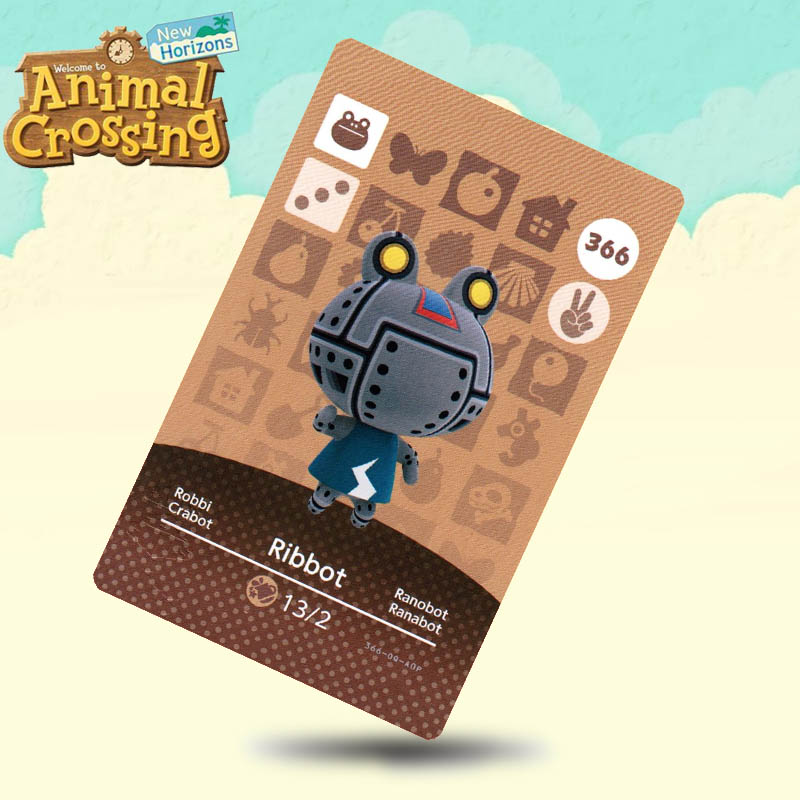 366 Ribbot Animal Crossing Card Amiibo Cards Work For Switch NS 3DS Games
