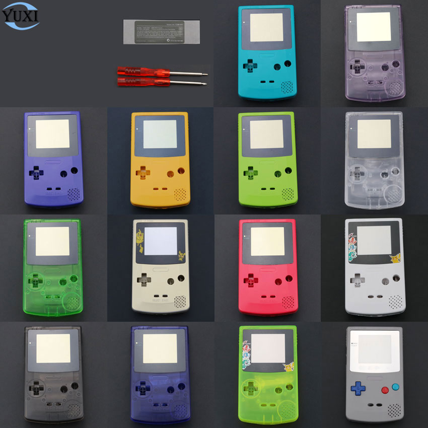 YuXi Full Housing Shell Cover Replacement Part for Nintendo for Gameboy Color for GBC Console Case with <font><b>tools</b></font> image