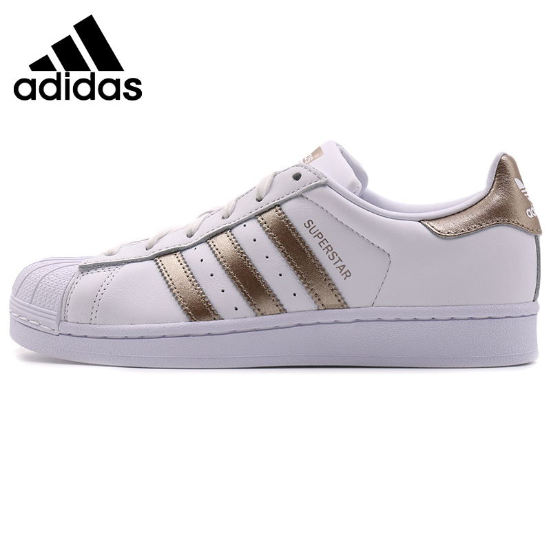 Adidas Originals SUPERSTAR W Women Skateboarding Shoes Men Sports Sneakers Unisex #CG5463 Original 2019 New Arrival image