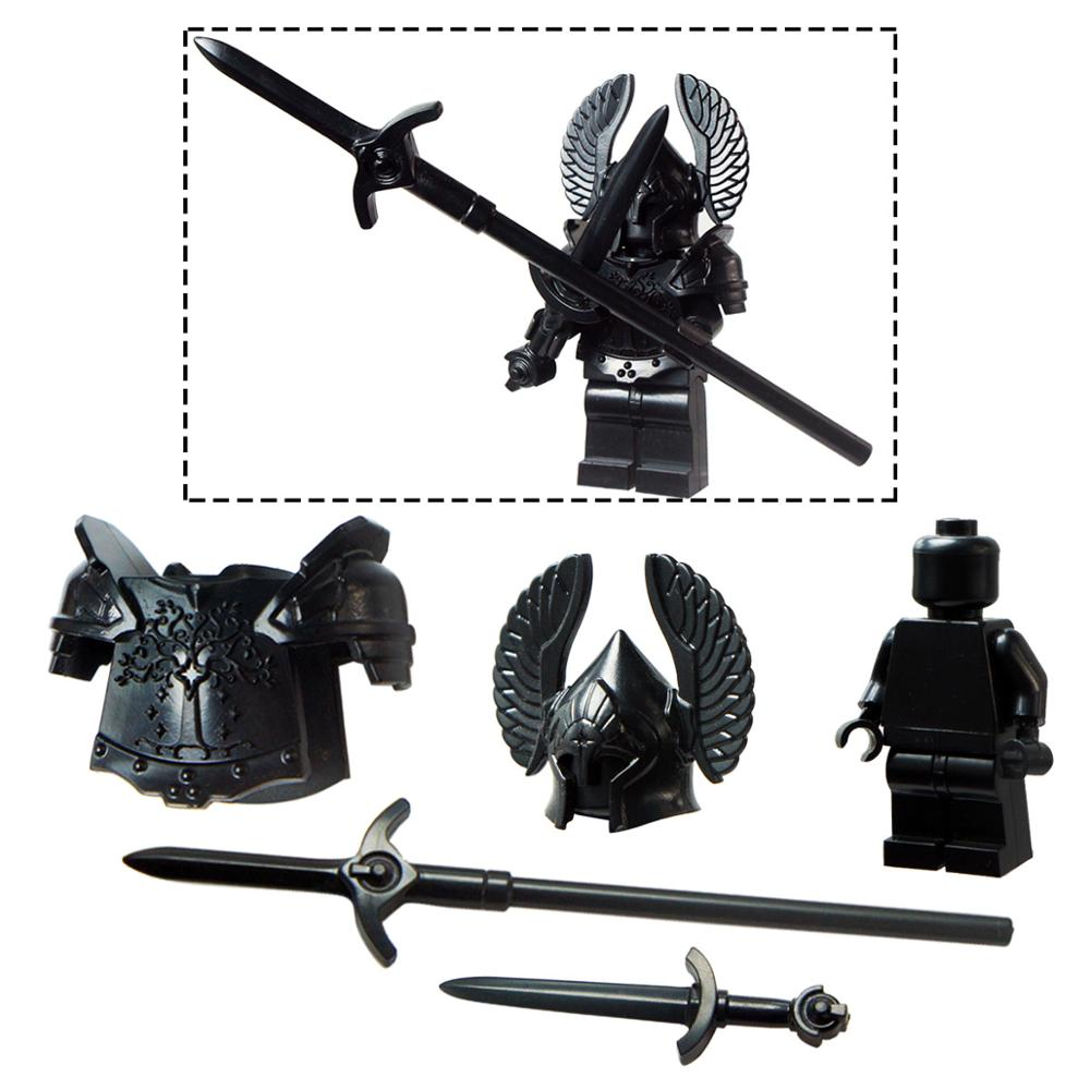 1PCS Without Mini Figures  Lord Of The Rings Armor Wings Yongquan Guard   Weapon Accessories Compatible With  Toys