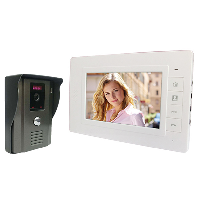ABKT-7inch Tft Lcd Screen Video Door Phone Video Intercome Doorbell Night-Vision Cmos Outdoor Security Camera Home Security