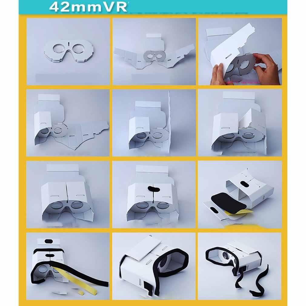 ل الإبداعية Diy المحمولة نظارة الواقع الافتراضي جوجل كرتون 3D نظارات نظارة واقع افتراضي ل 4 بوصة-6 بوصة هاتف ذكي