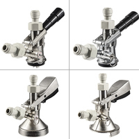 Keg Coupler Draft Beer Keg Coupler Tap Dispenser with Push In Fitting Pneumatic Quick Joint G Type,A Type,D Type,S Type Coupler