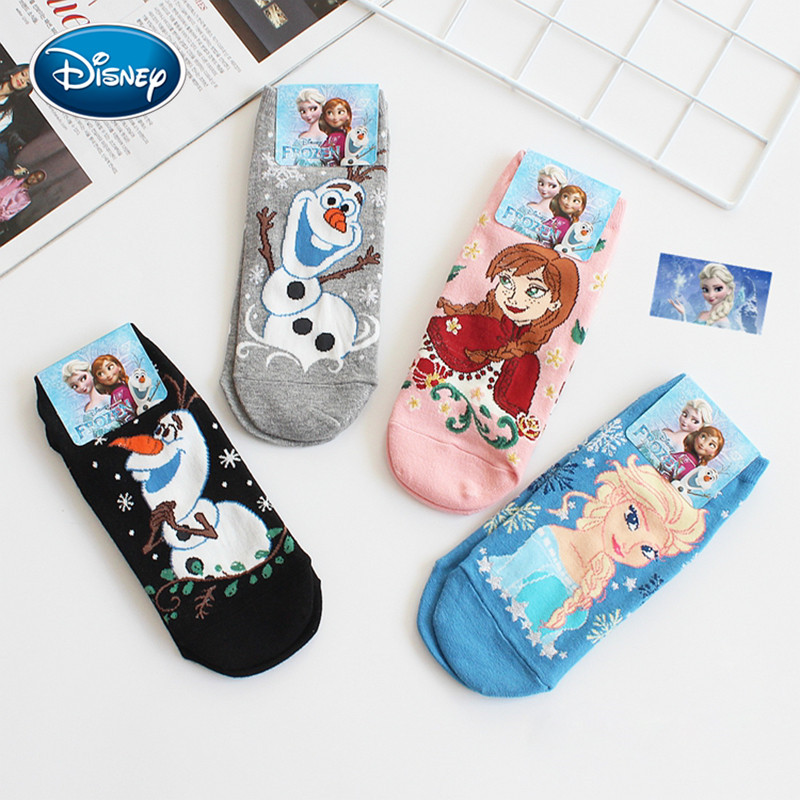 Disney Cartoon Frozen Female Socks Spring Autumn Winter Female Cotton Socks Cartoon Anime Socks Cute Princess Olaf Socks