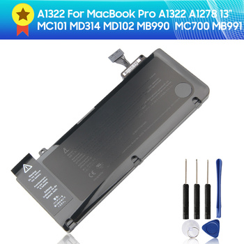 Original Replacement Battery A1322 for MacBook Pro A1322 A1278 13 MC101 MD314 MD102 MB990  MC700 MB991 63.5wh 63 5wh 10 95v a1322 a1278 battery for apple a1322 apple macbook pro 13 2009 2010 2011 mb991ll a mb990ll a mb990j a mc700 mc724