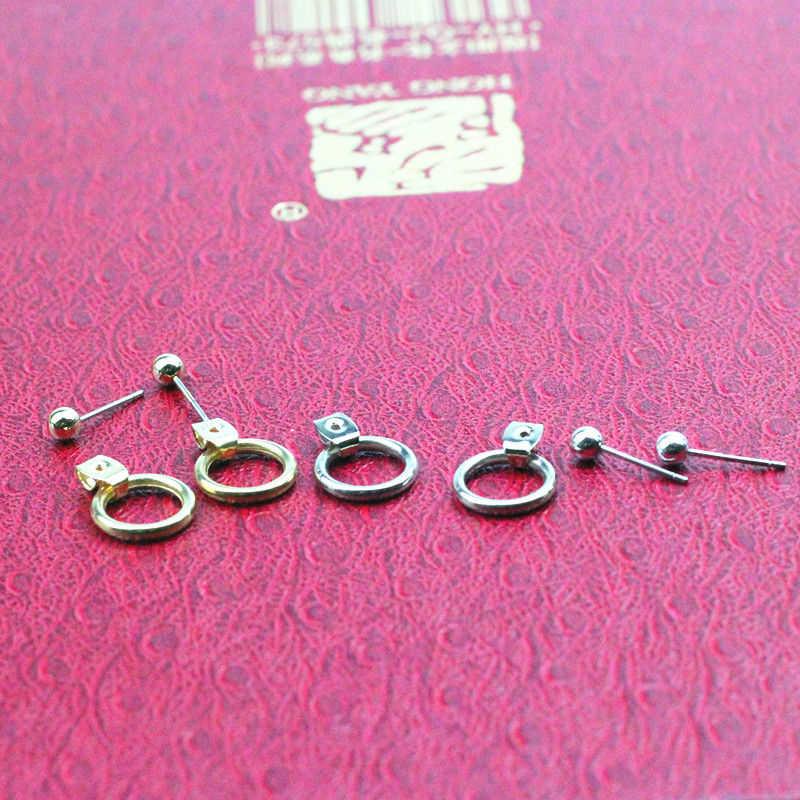 קרטר ליזה תכשיטים זהב/כסף חמוד זהב צבע גיאומטרי קטן מעגל מתכת Stud עגילי מתנה הטובה ביותר עבור נשים ילדה