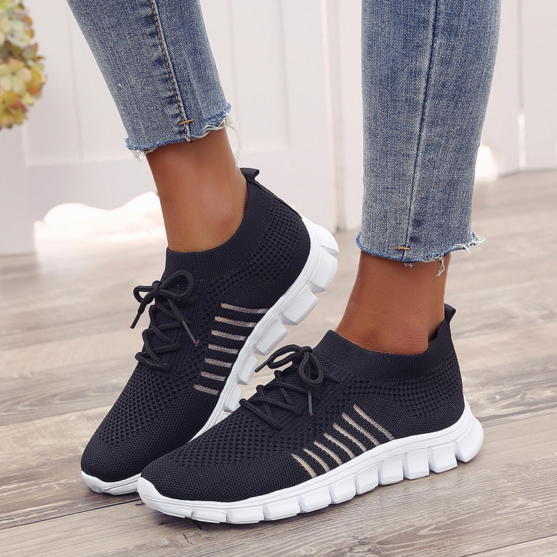 Running-Shoes Women Sneakers Athletic Breathable Summer Woman Lace-Up for Mesh title=