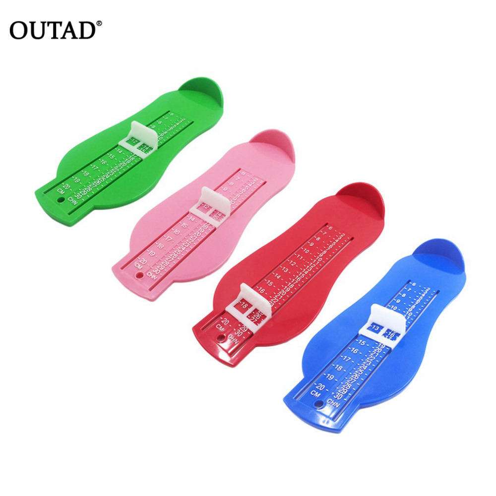 OUTAD ABS Baby Care Kid Infant Foot Measure Tool Foot Measure Gauge Shoes Size Measuring Ruler Tools 0-20cm 4 Colors Dropship