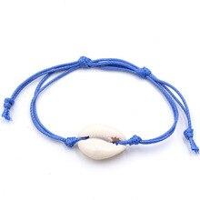 Bohemian Handmade Shell Bracelet Bangle Women 2019 New Blue Rope Chain Bracelets Jewelry Christmas Gift