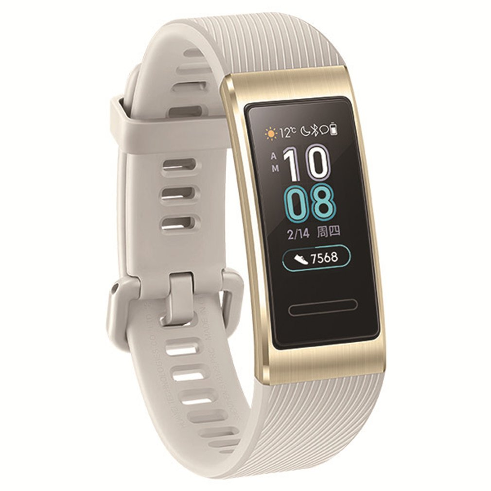 Pour Huawei Band 3 Pro intégré GPS montre intelligente AMOLED écran tactile 50m étanche Bracelet montre