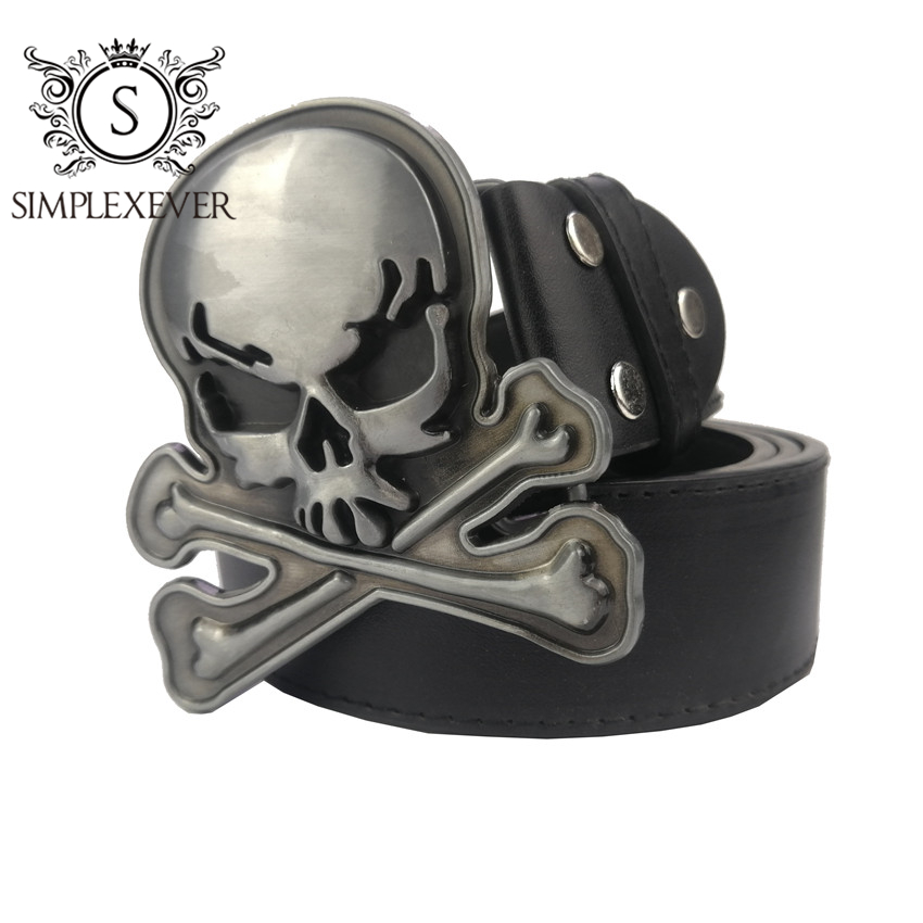 Cross Skull Belt Buckle For Men Jeans Accessories Silver Metal Belt Buckle For 4cm Wide Belt Drop Shipping